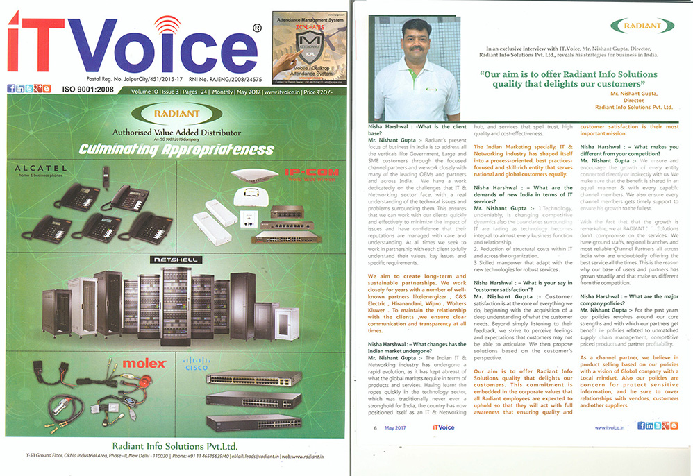 Radiant Interview on ITVoice