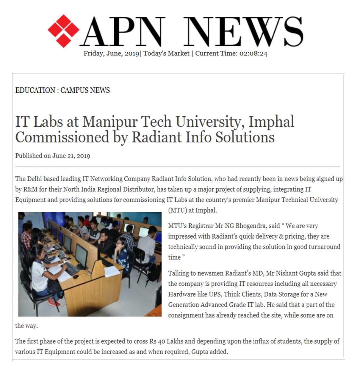APN NEWS IT Labs